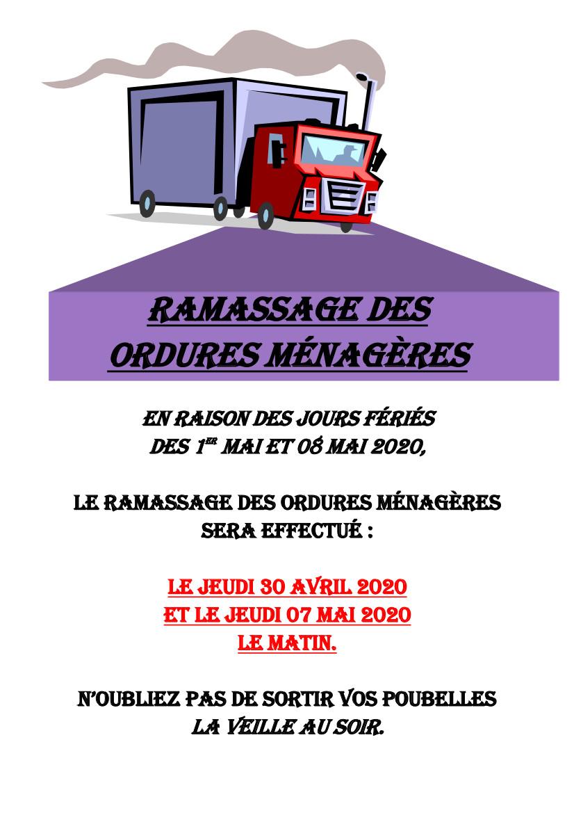 RAMASSAGE ORDURES MENAGERES