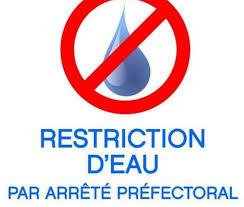 Restriction d'usages  de l'eau : situation de crise